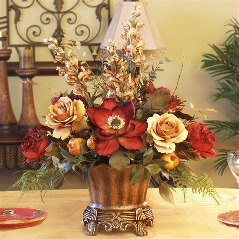 magnolia rose silk floral centerpiece ar246 85 floral