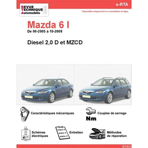 mazda site officiel revue technique mazda 6 i diesel rta site officiel etai