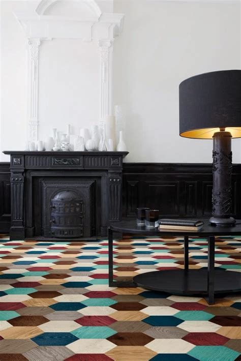 Hexagonal Parquet Wood Floor Tiles by Edward van Vliet for