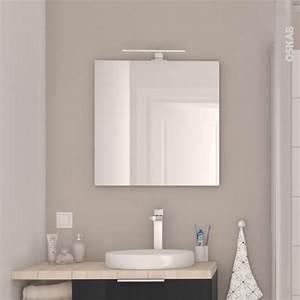 Miroir de salle de bains simple ephis l60 x h60 cm oskab for Miroir simple salle de bain
