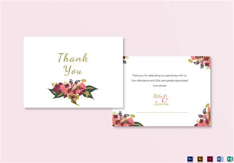 thank you card template indesign burgundy floral thank you card design templates in word