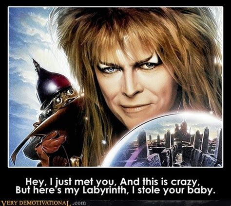 David Bowie Labyrinth Meme - hey i just met you funny amusing stuff pinterest