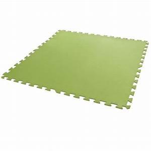 Tapis Piscine Hors Sol : dalles de sol verte 81 x 81 cm 8 pi ces achat vente ~ Dailycaller-alerts.com Idées de Décoration