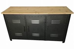 Buffet Bois Et Metal : buffet en m tal 3 portes faber design sur sofactory ~ Teatrodelosmanantiales.com Idées de Décoration