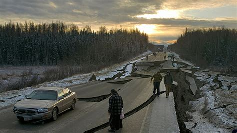 alaska earthquake aftermath displayed  pictures