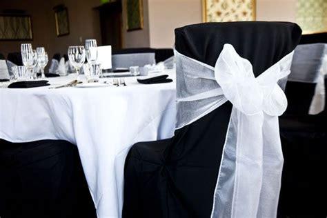 black chair covers wedding