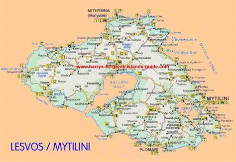 stadtplan von lesbos detaillierte gedruckte karten von