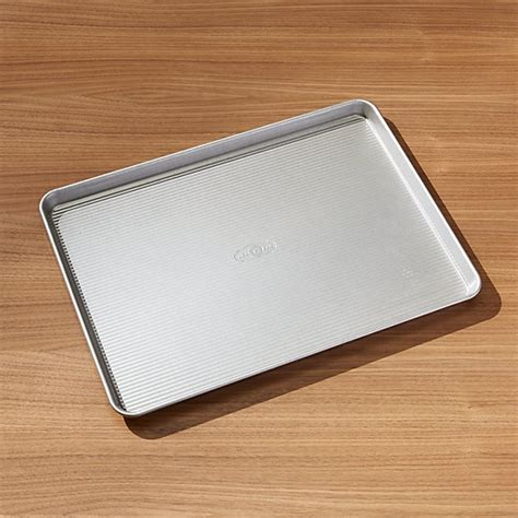 usa pan pro line non stick extra large cookie sheet crate and barrel