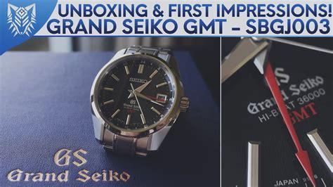 unboxing  impressions grand seiko highbeat gmt
