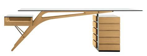 bureau bois verre bureau cavour bois verre 247 x 90 cm chêne naturel