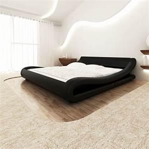 Bett Schwarz 140x200 : kunstlederbett bettgestell bett 140x200 schwarz g nstig kaufen ~ Buech-reservation.com Haus und Dekorationen