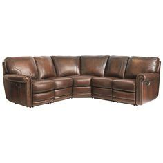 furniture of america tennor brown bonded leather theatre