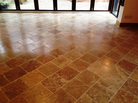 sealing travertine floor cleaning and polishing
