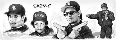 Eazy-e Art Drawing Sketch Poster Greeting Card For Sale By