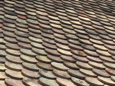 original antique roof tile in terracotta 19th