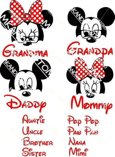 disney headsmickey mouse svgminnie mouse svg disney family svg disney mickey mouse svg