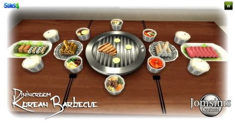 Korean Barbecue Dining Room At Jomsims Creations Sims 4