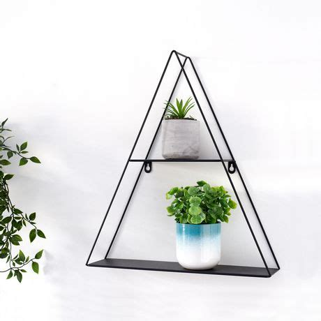 At jysk canada we offer floating wall shelves, box shelves and metal shelves to suit your various home decors. Truu Design Decorative Triangle Floating Wall Shelf ...