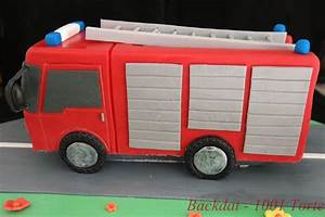 Backdat 1001 Torte: Feuerwehrauto