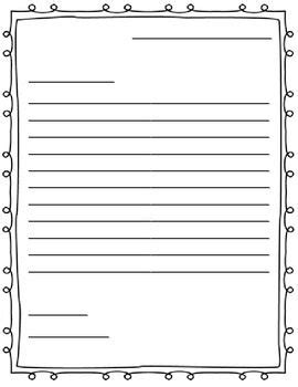 friendly letter template  kids  grade theveliger