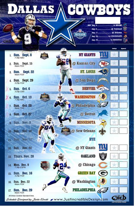 dallas cowboys schedule    nfl schedule