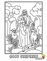 Shepherd Jesus Coloring Colouring Sheet Printable Bible Template Lazarus Yescoloring Tomb Calls Templates Glorious Face sketch template