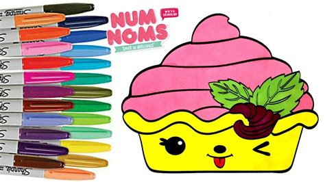 num noms strawberry froyo coloring book page num noms