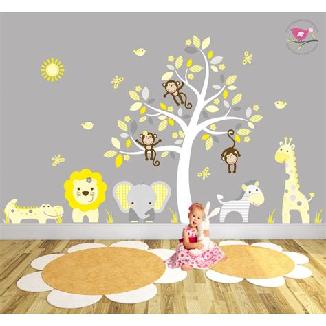 stickers chambres safari fabric nursery wall stickers