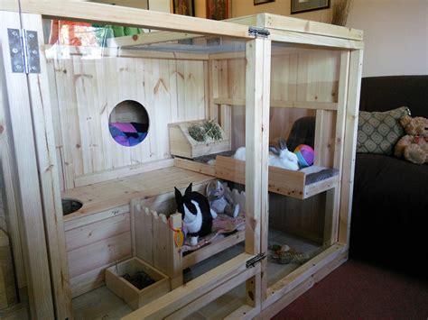 Indoor Rabbit Hutch - woodworking projects for diy rabbit hutch indoor