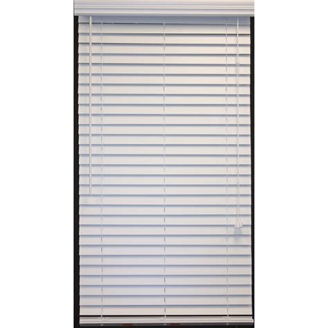 faux wood blinds lowes shop style selections 2 in white faux wood room darkening