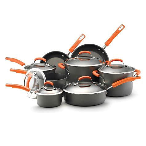rachael ray hard anodized nonstick  piece cookware set