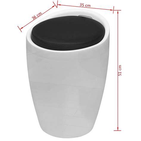 siege rond acheter tabouret abs rond blanc avec siège amovible noir