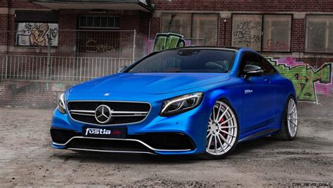 mercedes amg  coupe  fostlade  dripping blue