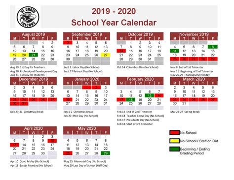 approved academic calendar st christopher school