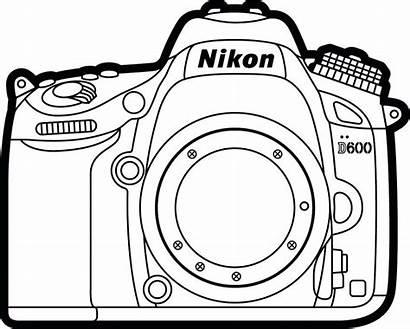 Coloring Pages Camara Camera Colouring Para Nikon