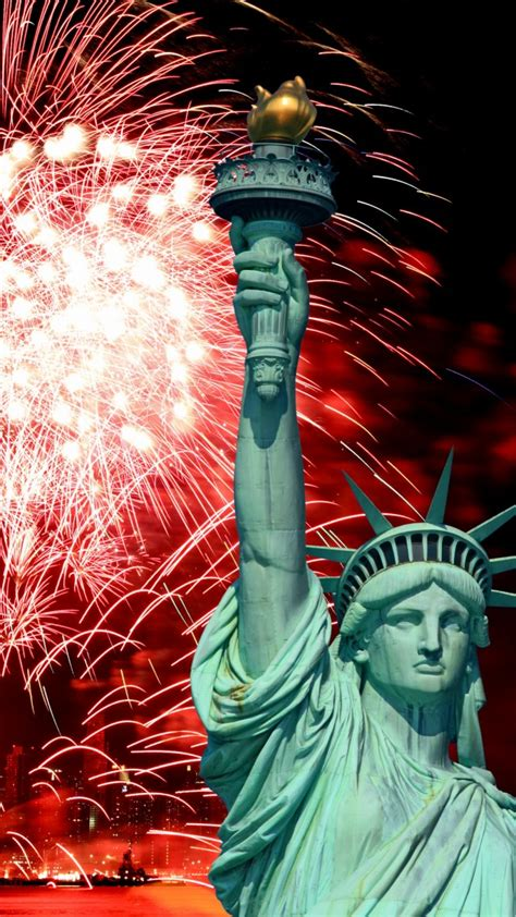 wallpaper independence day usa ny statue  liberty