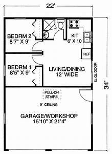 Garage with apartment one level floor plans garage with for Garage plans with apartment one level