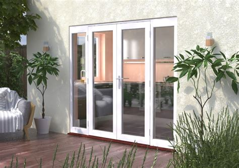 mm classic white wooden french doors  sidelights