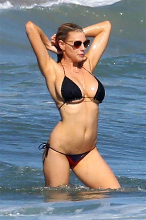 Charlotte Mckinney In Bikini On A Beach In Malibu August