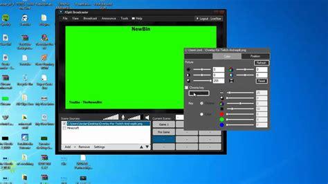 xsplit overlaychroma key effect     stream
