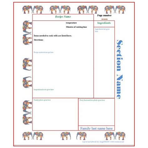 thanksgiving recipe card template   collection