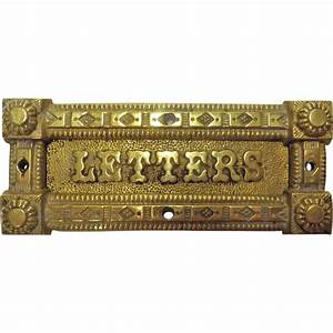 victorian brass letter slot from molotov on ruby lane With letter slot