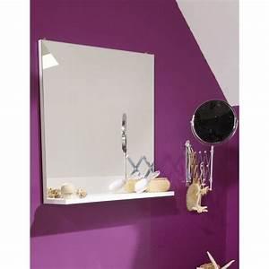 Miroir Salle De Bain Rangement : slash miroir de salle de bain l 60 cm blanc achat vente miroir salle de bain slash meuble ~ Teatrodelosmanantiales.com Idées de Décoration
