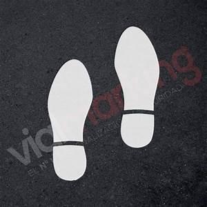 Plantilla huellas pasos de zapatos polipropileno, pvc, aluminio o metal Señalización y Seguridad