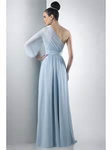sleeve dress wedding guest one shoulder sleeve chiffon blue bridesmaid dresses wedding guest dresses 501032
