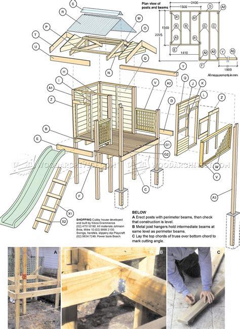 backyard playhouse plans woodarchivist