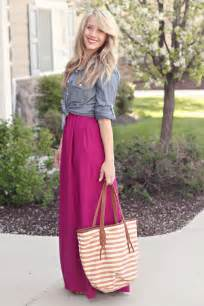 Purple Maxi Skirt Outfit Ideas