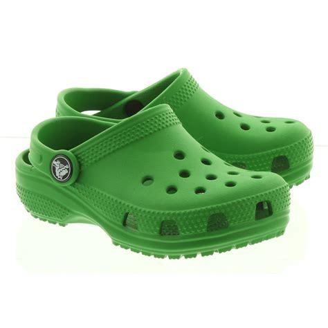 crocs kid classic clogs  green  green