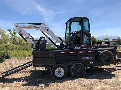 dump trailer mini excavator combo salt lake city ut patriot rentals