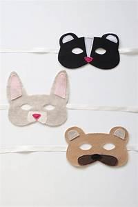 diy woodland animal felt masks tutorial with free With woodland animal mask templates